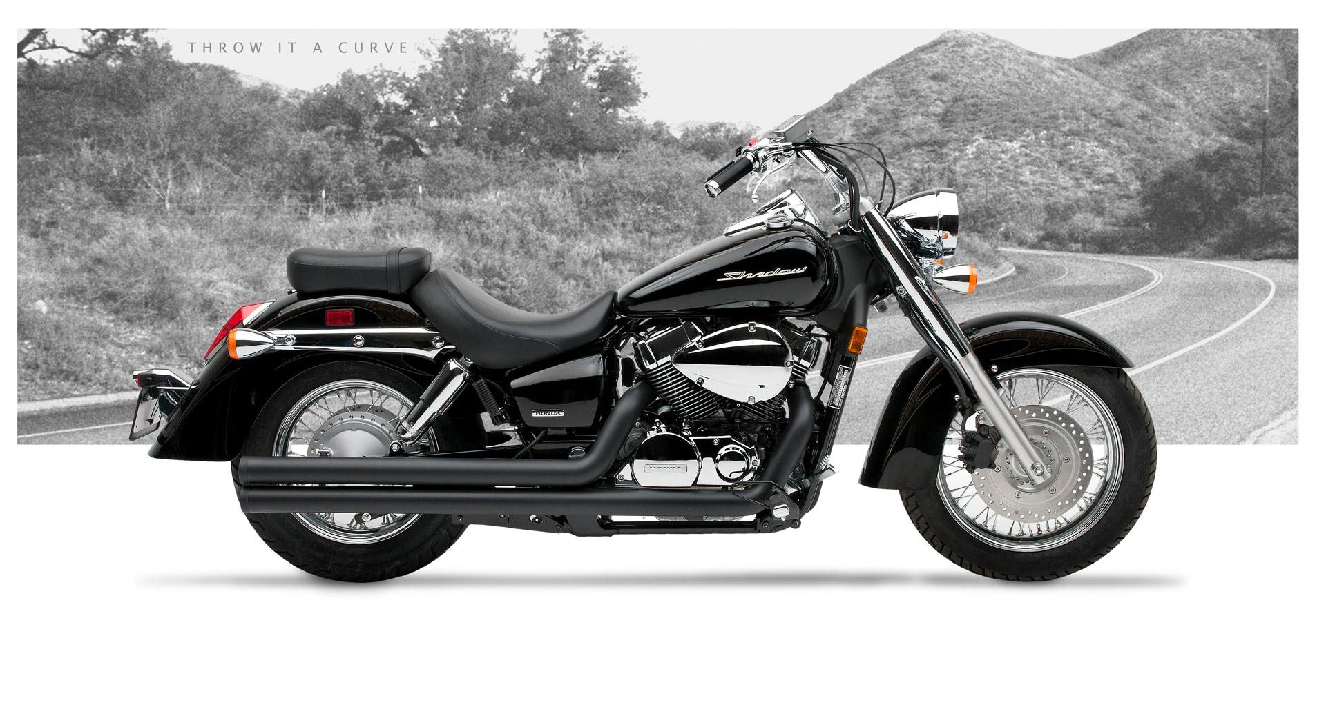 Honda Shadow Aero 750 Motorcycle Exhaust American Classic Ii Black